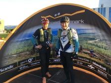 Mika Pasonen (vas.) ja Ari Ruoho osallistuivat tiimisarjaan..
